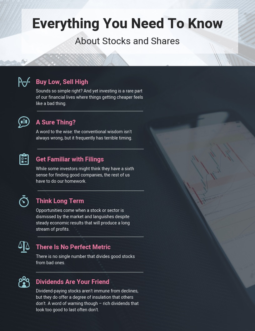 financial stocks informational infographic venngage