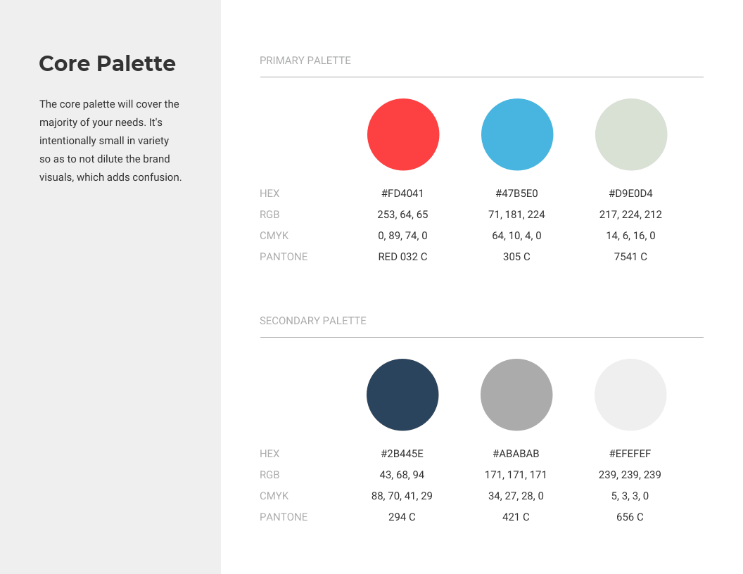 Color Palette Brand Style Guide Venngage