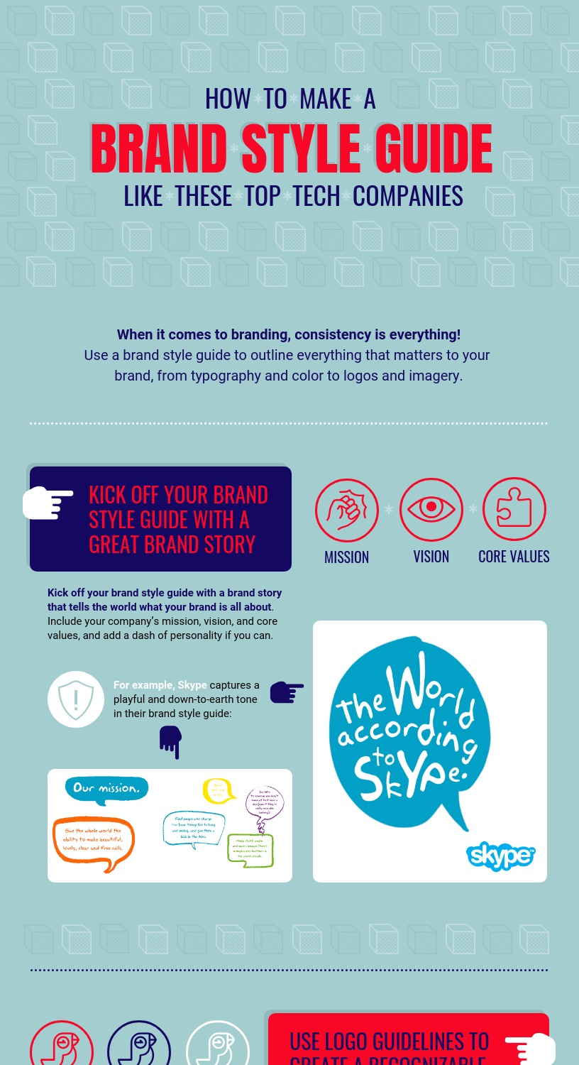 how to make a brand style guide infographic venngage